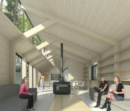 Vista desde Living: Livings de estilo moderno por GAALGO Arquitectos