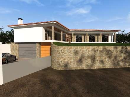 Moradia Tradicional - Braga: Habitações  por Ricardo Freitas Arq.