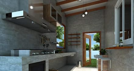 industrial Kitchen by P-lona