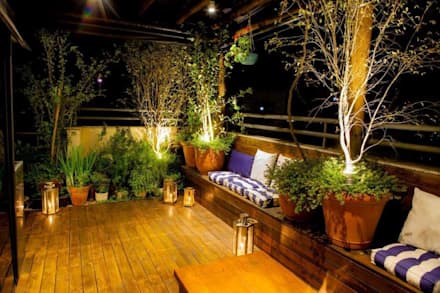 Cobertura S.J. dos Campos: Jardins modernos por Felipe Mascarenhas Paisagismo