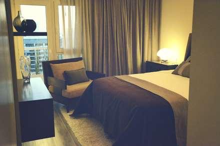 Vivienda PG, Neuquén: Dormitorios de estilo moderno por ARKIZA