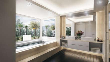 Villa de Lujo | Marbella Club: Baños de estilo minimalista de DIKA estudio