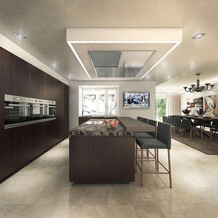Villa de Lujo | Marbella Club: Cocinas de estilo minimalista de DIKA estudio