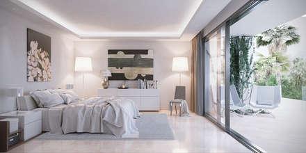 Villas en Altos de Puente Romano: Dormitorios de estilo minimalista de DIKA estudio