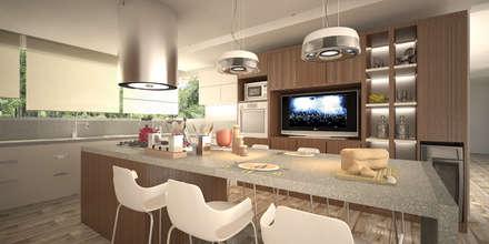 Vivienda LL - Manzanar Millenium, Cipolletti, Río Negro: Cocinas de estilo moderno por ARKIZA