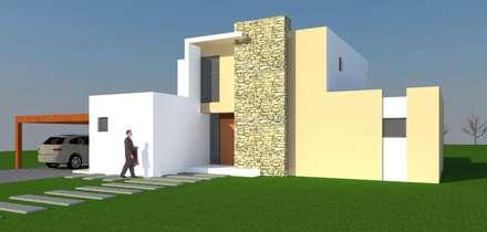 CASA EN PADRE HURTADO: Casas de estilo minimalista por H2H arquitectos