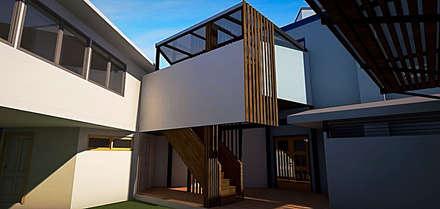 Jardín Infantil. Serviu Valparaiso. Chile.: Casas de estilo minimalista por CMarquitecto