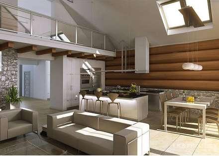 Dieses Haus ist einfach mal anders. Unser Projekt LK&684: moderne Wohnzimmer von LK&Projekt GmbH