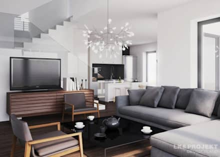 moderne wohnzimmer - wohndesign - Moderne Wohnzimmer Grau