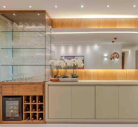 modern Wine cellar by Carol Landim | Arquitetura + Interiores