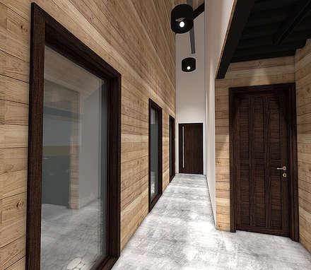 Casa MB: Pasillos, hall y escaleras de estilo  por Smartlive Studio