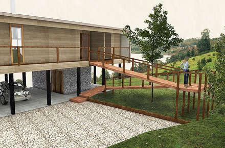 Casa CZ: Casas de estilo moderno por Smartlive Studio