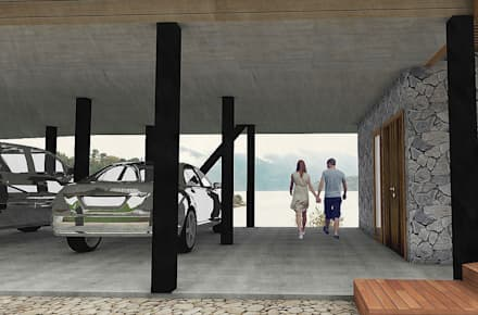 Casa CZ: Garages de estilo moderno por Smartlive Studio