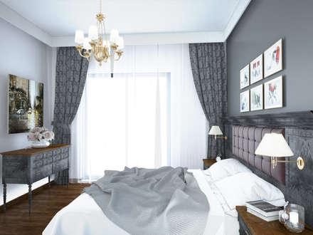 Öykü İç Mimarlık – Villa Projelerimiz (3D): modern tarz Yatak Odası