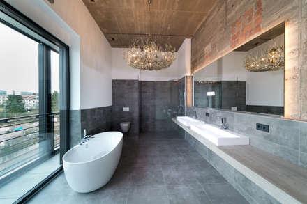 loft bad ausgefallene badezimmer von hauser architektur