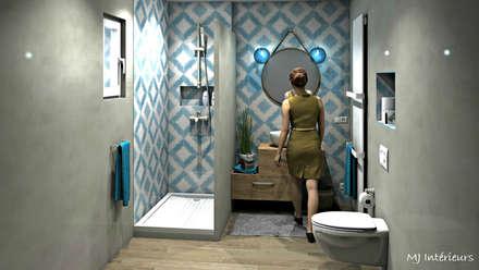 Salle d'eau esprit méditerranéen: Salle de bain de style de style Méditerranéen par MJ Intérieurs