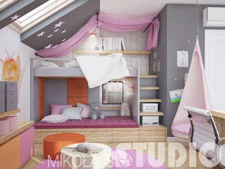 Mädchenzimmer: klassische Kinderzimmer von MIKOLAJSKAstudio