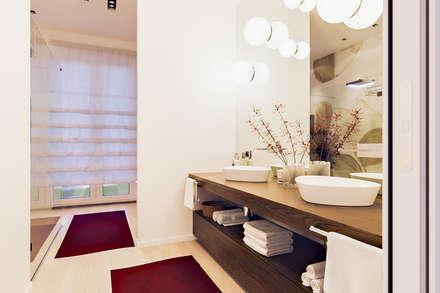 un attico in stile loft in milano bagno in stile in stile moderno di annalisa