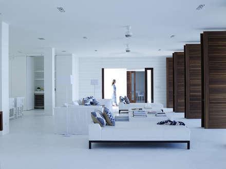 LIVING: tropical Living room by Adam Design