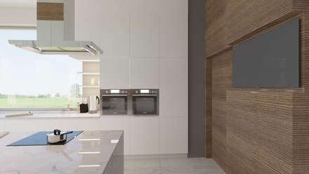 Dom w Margaretkach: styl , w kategorii Kuchnia zaprojektowany przez JSK STUDIO