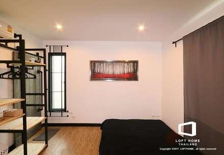 Modern Loft 2-story Home:  ห้องนอน by LOFT HOME (THAILAND) Co.,Ltd