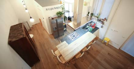 Graphic Designer Loft: Cucina in stile in stile Industriale di LAB43