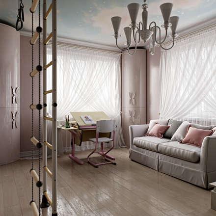Dormitorios infantiles de estilo clásico por Студия дизайна интерьера Маши Марченко