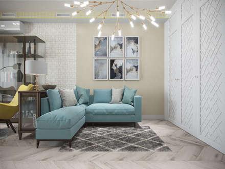 Квартира в ЖК «Европейский», 67 кв.м.: Гостиная в . Автор – Студия дизайна интерьера Маши Марченко
