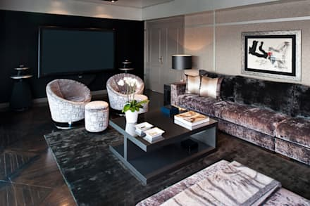 modern Media room by Isa de Luca