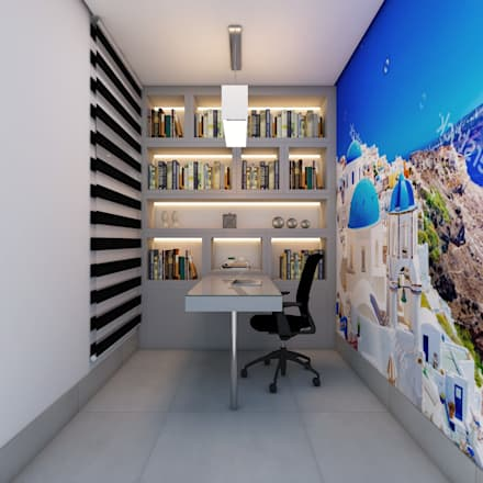 moderne Arbeitszimmer von Caio Pelisson - Arquitetura e Design