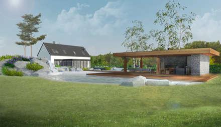REZYDENCJA W GŁUBCZYCACH - ZAGOSPODAROWANIE TERENU: styl , w kategorii Ogród zaprojektowany przez Architekton Przemyslaw Cepielik