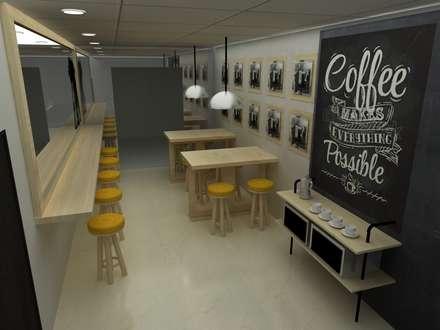 CAFETERIA INDUSTRIAL MODULAR: Comedores de estilo ecléctico por SIMETRIC ARQUITECTURA INTERIOR