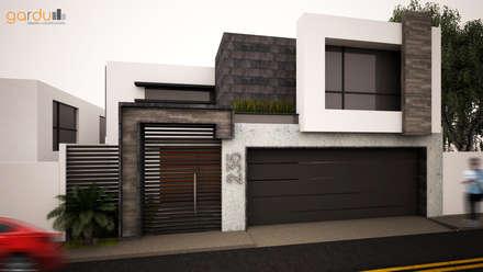 fachada minimalista casas de estilo minimalista por gardu arquitectos - Casas Minimalistas