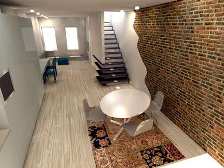 loft: eclectische Woonkamer door Tektor interieur & architectuur
