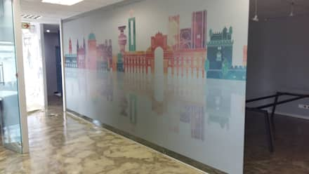 Frosted Vinyl Decals: modern Study/office by Resurface Graphics