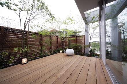 長住の家: 株式会社 SYN空間計画 一級建築事務所が手掛けたバルコニー&テラスです。