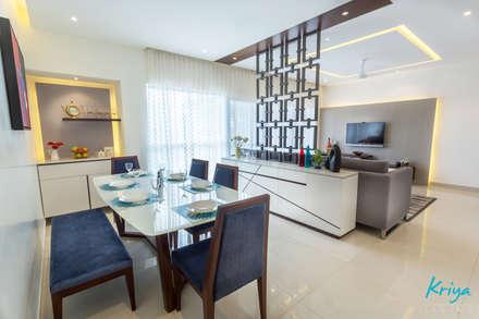 RMZ Galleria, Bangalore: modern Dining room by KRIYA LIVING