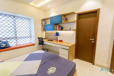 RMZ Galleria Bangalore Modern Bedroom By KRIYA LIVING