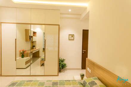 3 BHK apartment - RMZ Galleria, Bengaluru: modern Bedroom by KRIYA LIVING