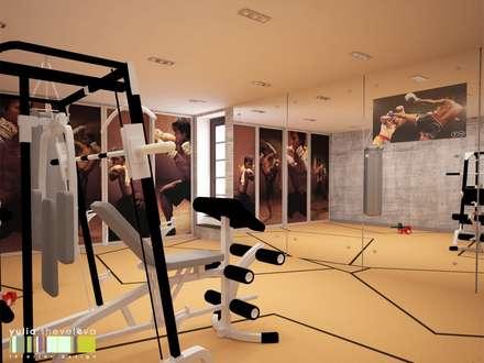 МУЖСКОЙ ХАРАКТЕР: Тренажерные комнаты в . Автор – Мастерская интерьера Юлии Шевелевой