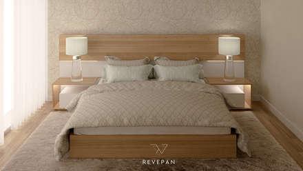 Ambientes 3D: Quartos modernos por Revepan