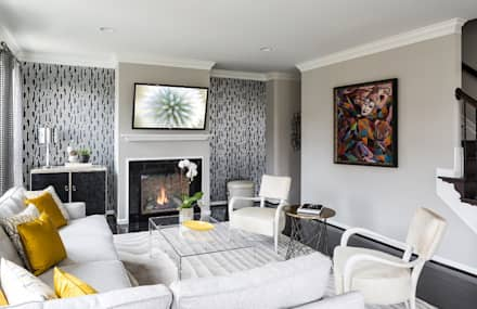 Viva Vogue - Living Room: modern Living room by Lorna Gross Interior Design