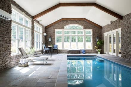 Riverside Retreat - Indoor Pool: classic Pool by Lorna Gross Interior Design