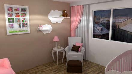 HABITACION DE NIÑA: Dormitorios infantiles de estilo minimalista de Raquel Rodriguez