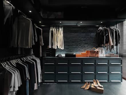 minimalistic Dressing room by Taipei Base Design Center