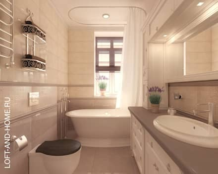 ТАУНХАУС, КЕМБРИДЖ, 120М2: Ванные комнаты в . Автор – Loft&Home
