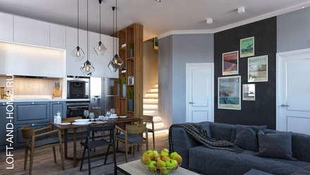 ТАУНХАУС, КЕМБРИДЖ 135М2, ЭКО-LOFT: Столовые комнаты в . Автор – Loft&Home