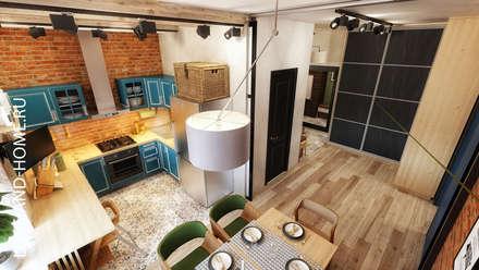 КВАРТИРА НА БЕЛОРУССКОЙ, 136М2: Столовые комнаты в . Автор – Loft&Home