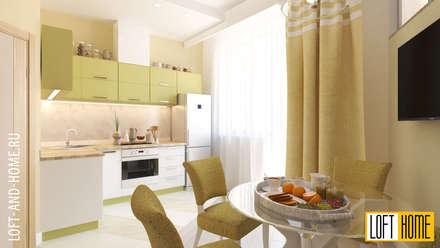 КВАРТИРА, ЖК НОВОРИЖСКИЙ, НЕОКЛАССИКА: Кухни в . Автор – Loft&Home