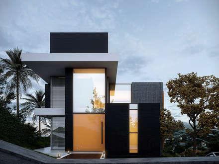 Casa E&P no Vale do Sereno - Nova Lima - Brasil : Casas modernas por Gramaglia Arquitetura